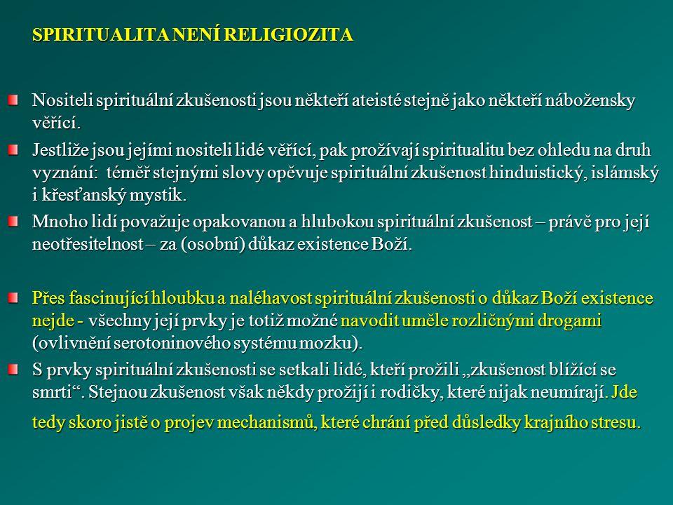 SPIRITUALITA NENÍ RELIGIOZITA