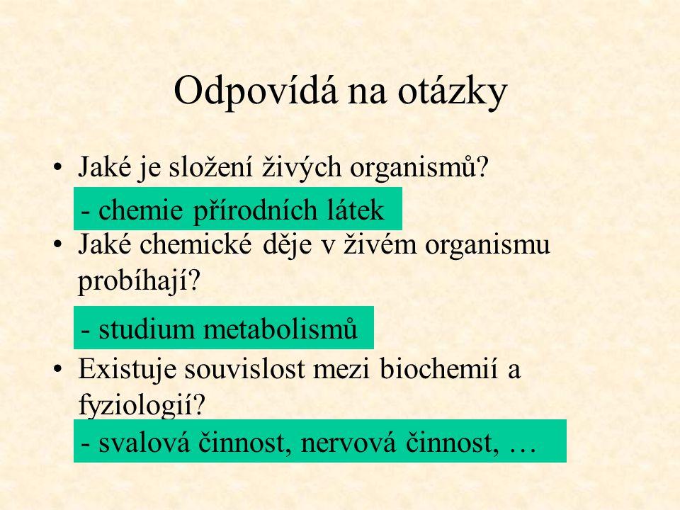 Odpovídá na otázky Jaké je složení živých organismů