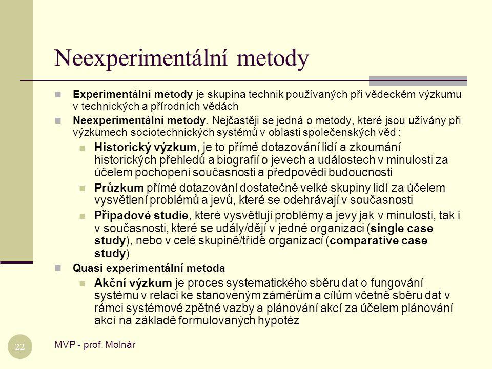 Neexperimentální metody