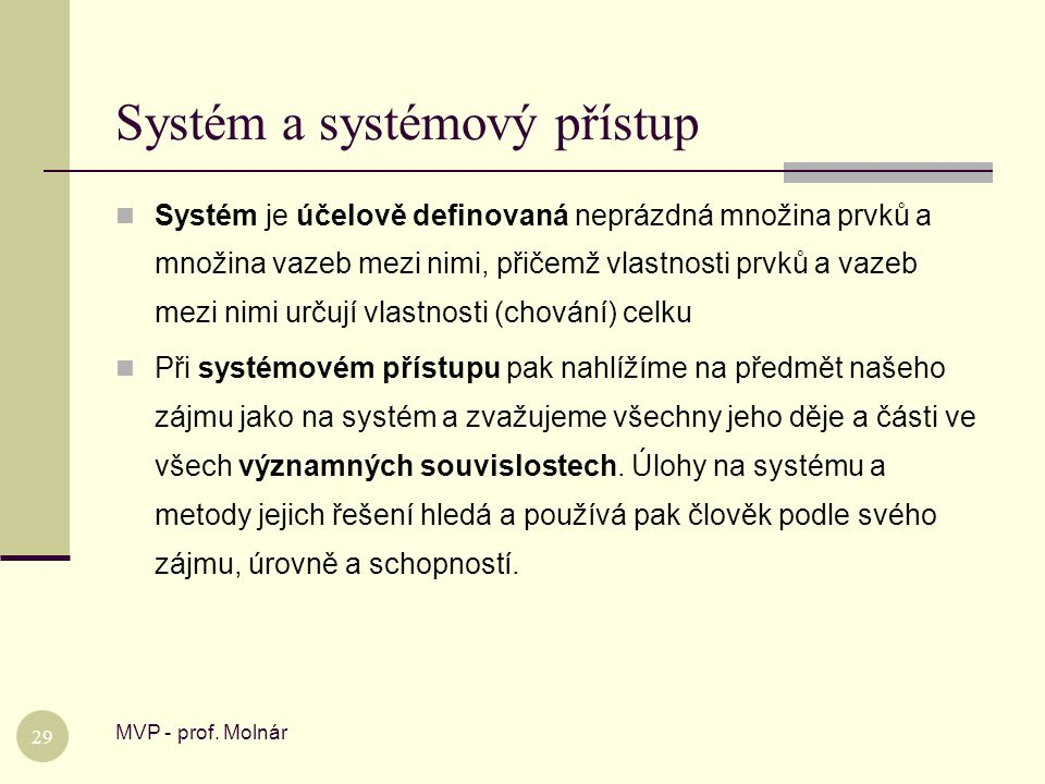 Systém a systémový přístup