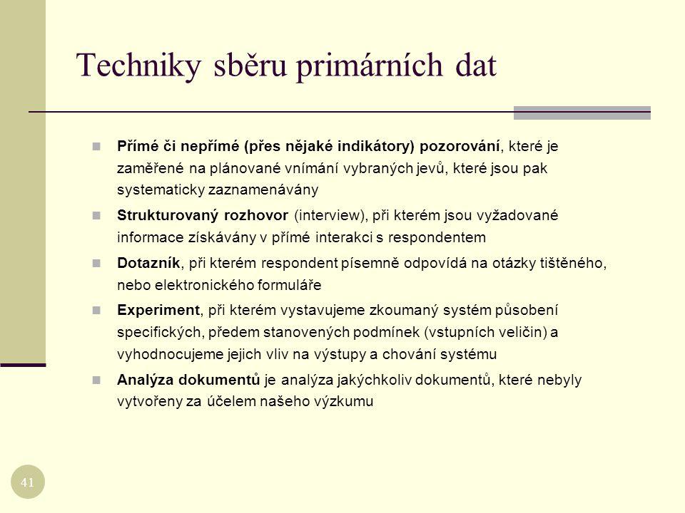 Techniky sběru primárních dat