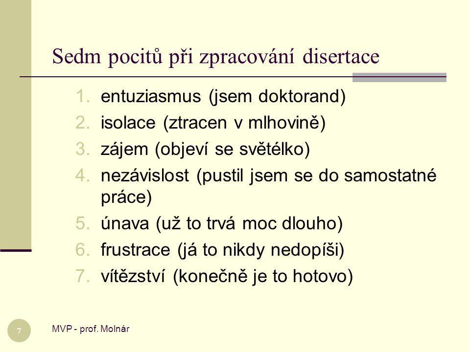 Sedm pocitů při zpracování disertace