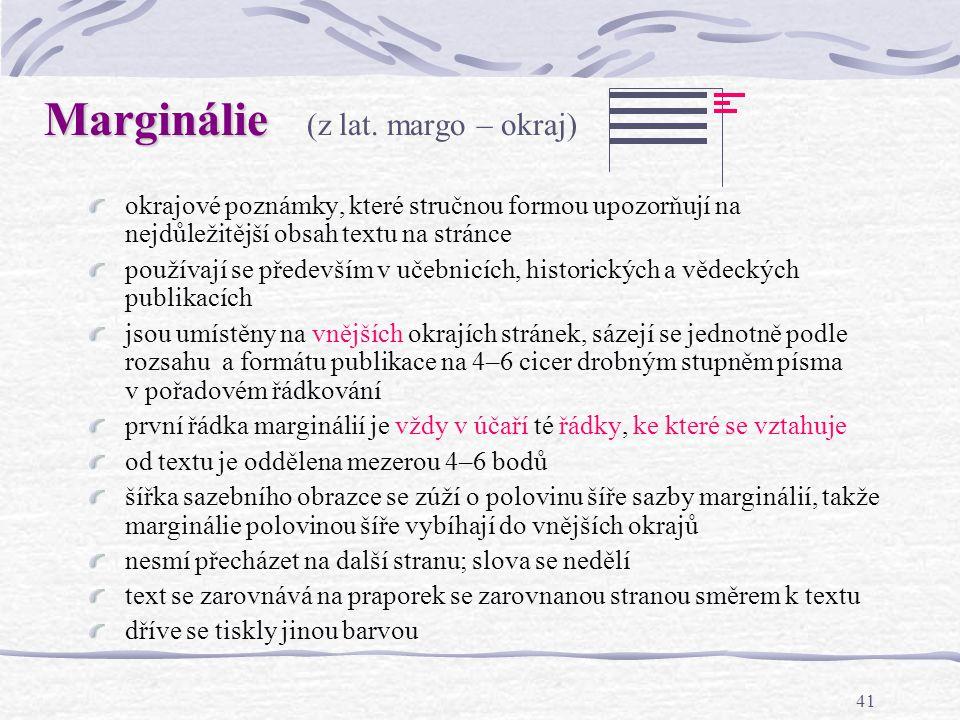 Marginálie (z lat. margo – okraj)