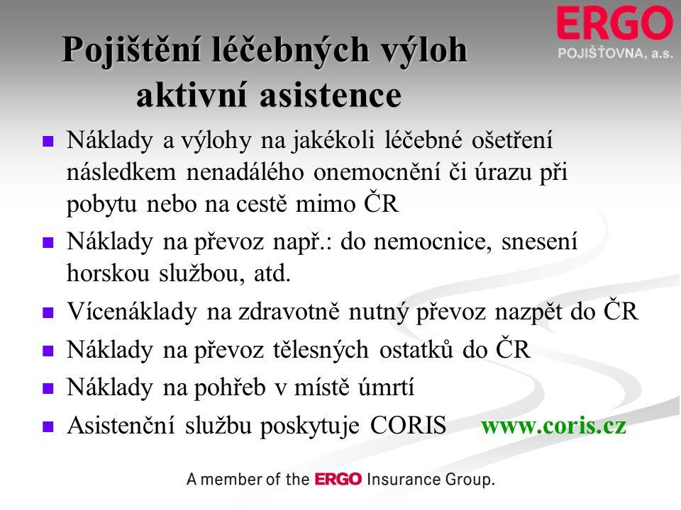 Pojištění léčebných výloh aktivní asistence