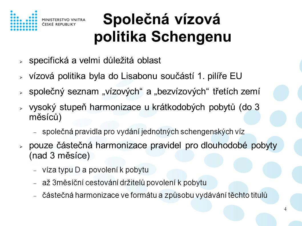 Společná vízová politika Schengenu