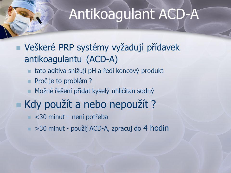 Antikoagulant ACD-A Kdy použít a nebo nepoužít