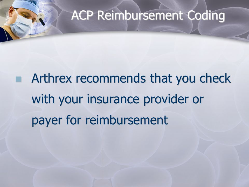 ACP Reimbursement Coding