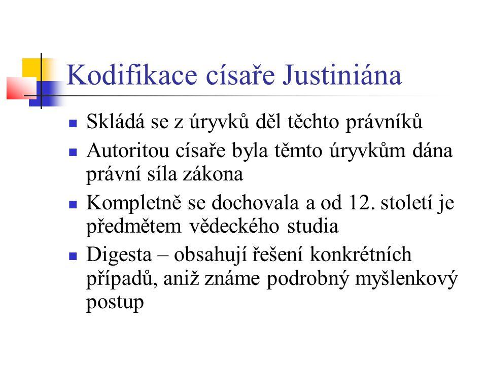 Kodifikace císaře Justiniána