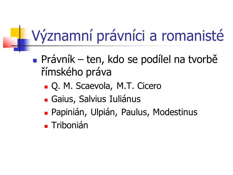 Významní právníci a romanisté