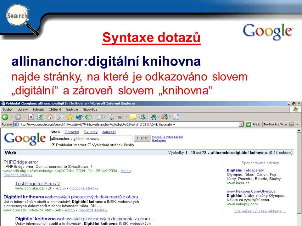 allinanchor:digitální knihovna