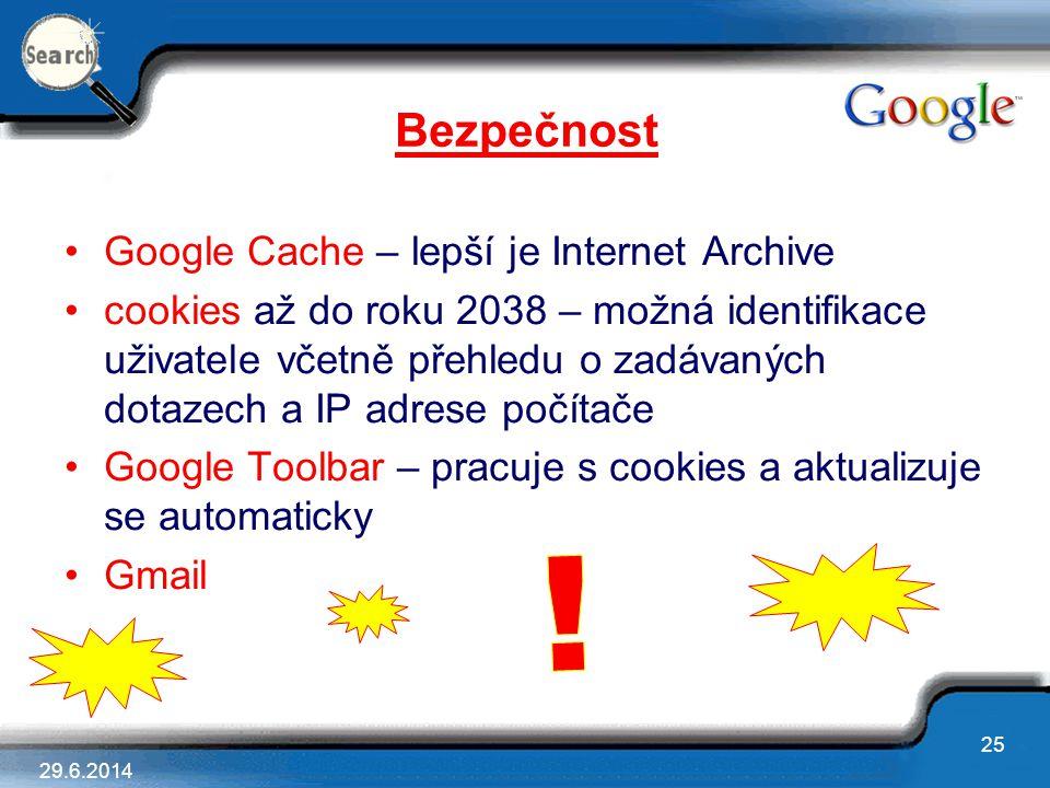 Bezpečnost Google Cache – lepší je Internet Archive