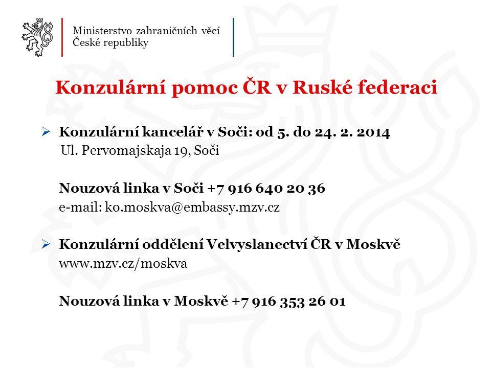 Konzulární pomoc ČR v Ruské federaci
