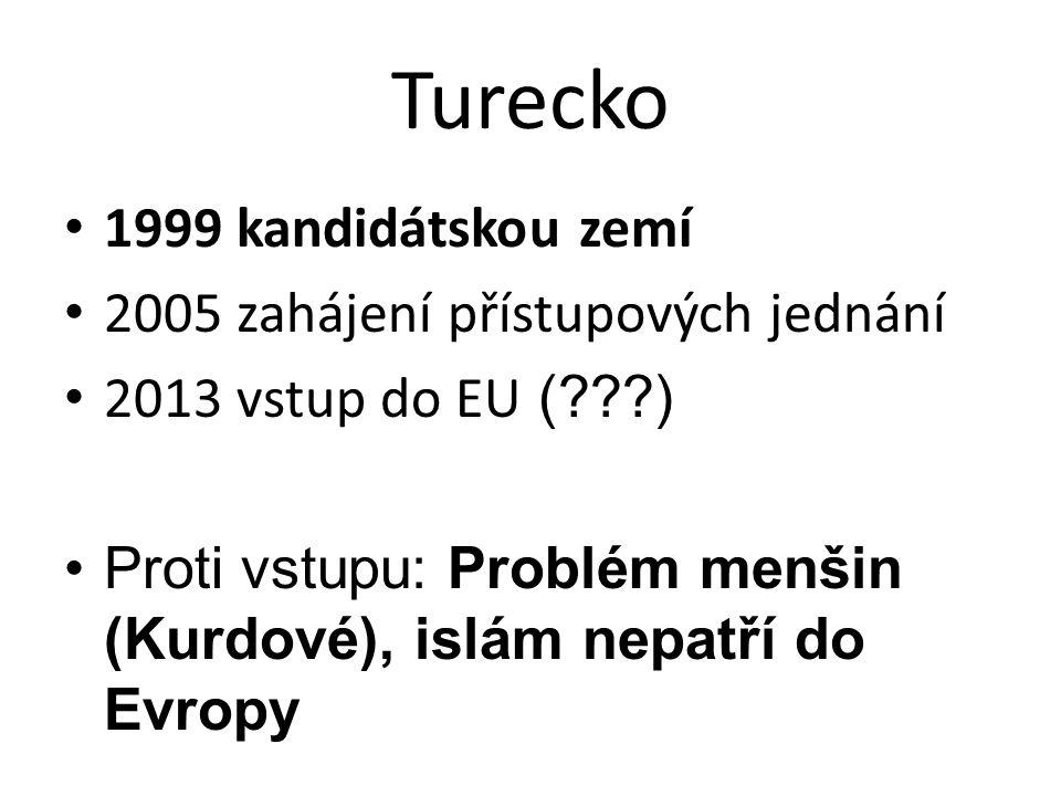 Turecko 1999 kandidátskou zemí 2005 zahájení přístupových jednání