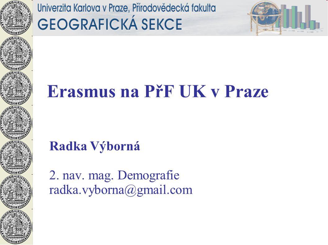 Erasmus na PřF UK v Praze