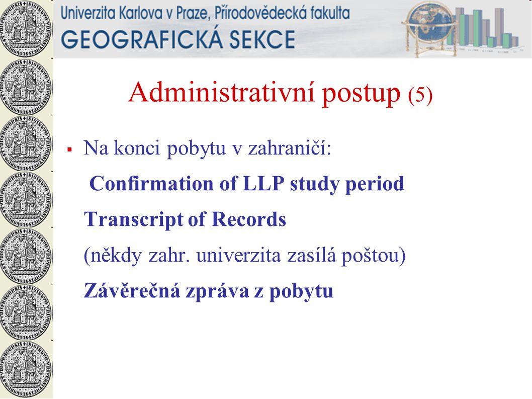 Administrativní postup (5)