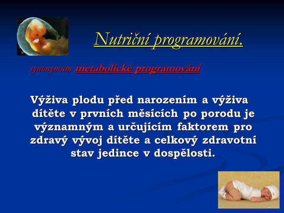 Nutriční programování.