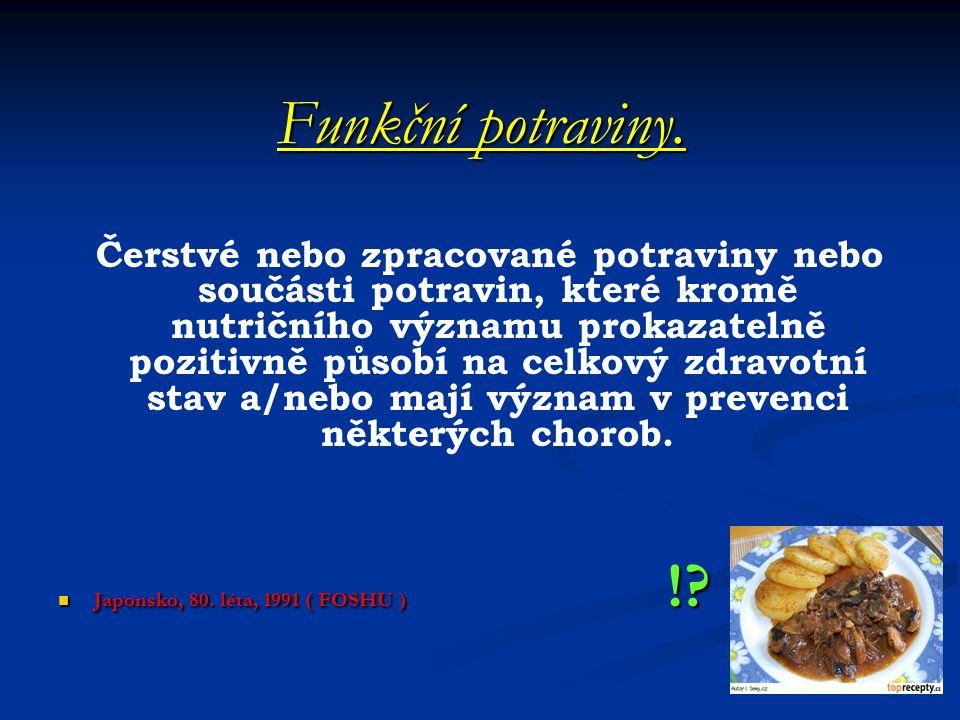 Funkční potraviny.