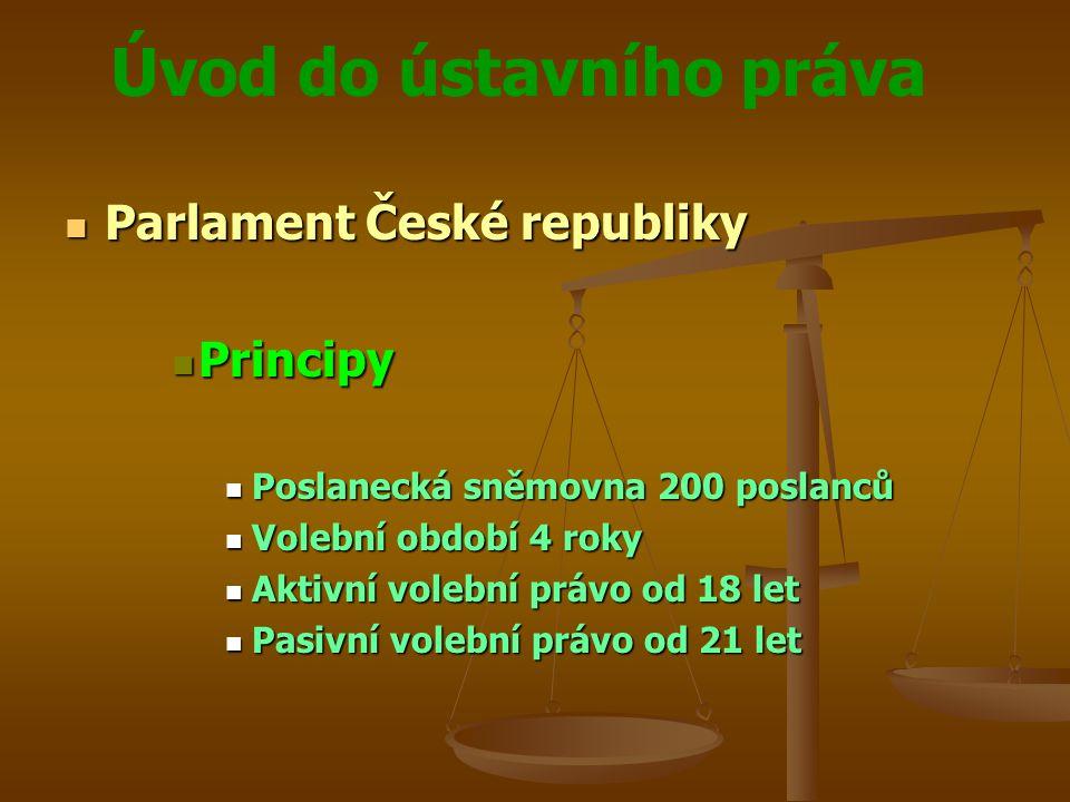 Parlament České republiky Principy