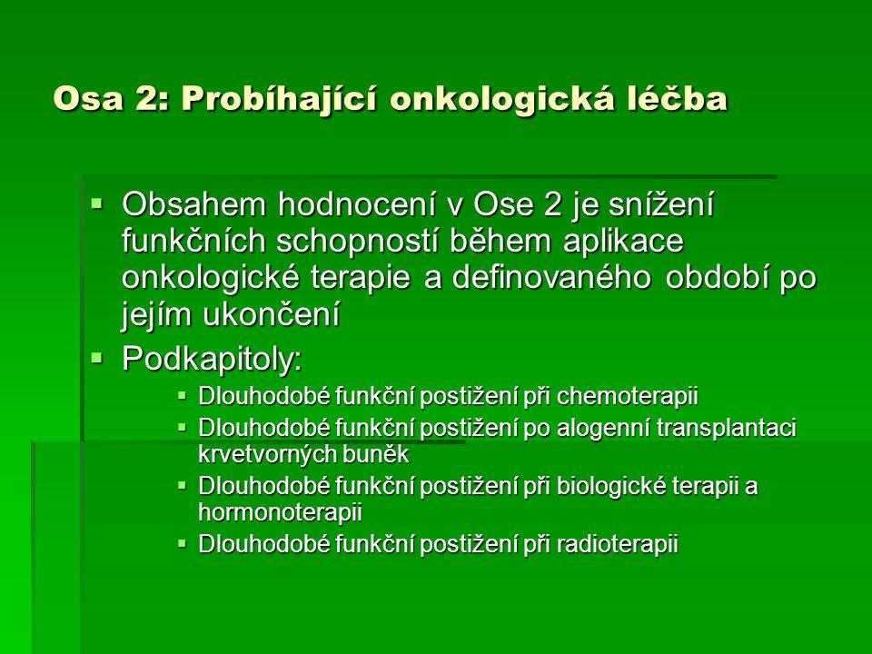 Osa 2: Probíhající onkologická léčba