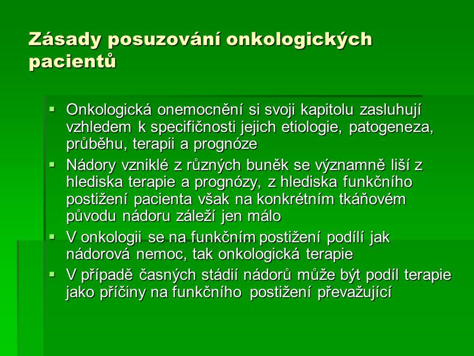Zásady posuzování onkologických pacientů