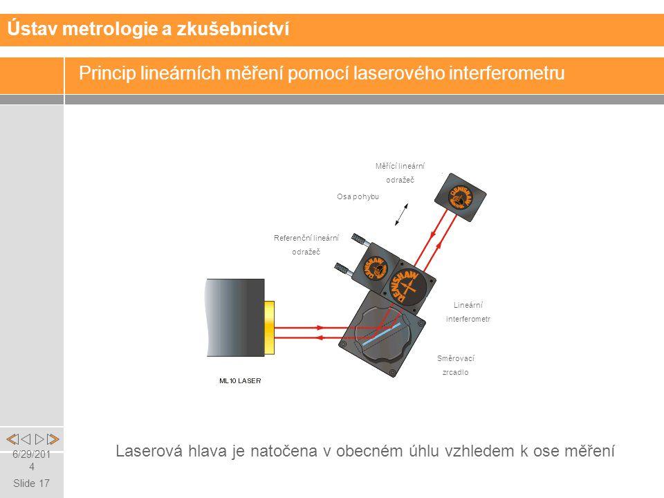 Princip lineárních měření pomocí laserového interferometru