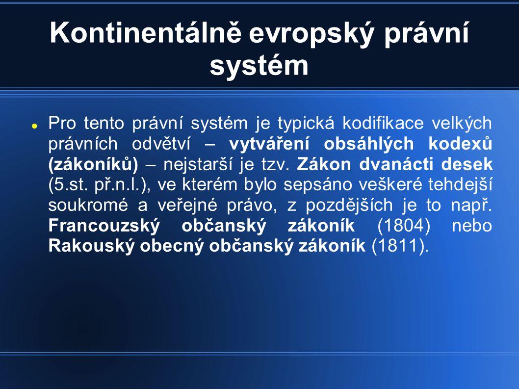 Kontinentálně evropský právní systém
