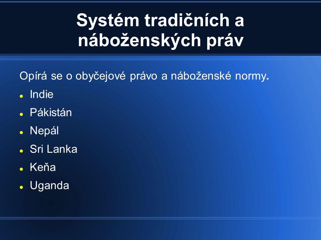 Systém tradičních a náboženských práv