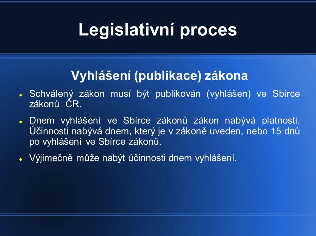 Vyhlášení (publikace) zákona
