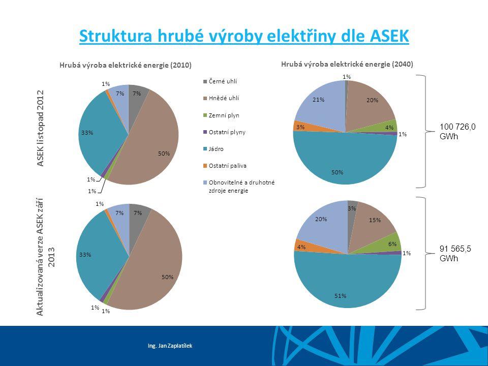 Struktura hrubé výroby elektřiny dle ASEK