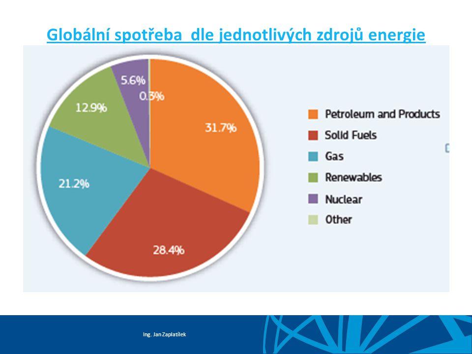 Globální spotřeba dle jednotlivých zdrojů energie