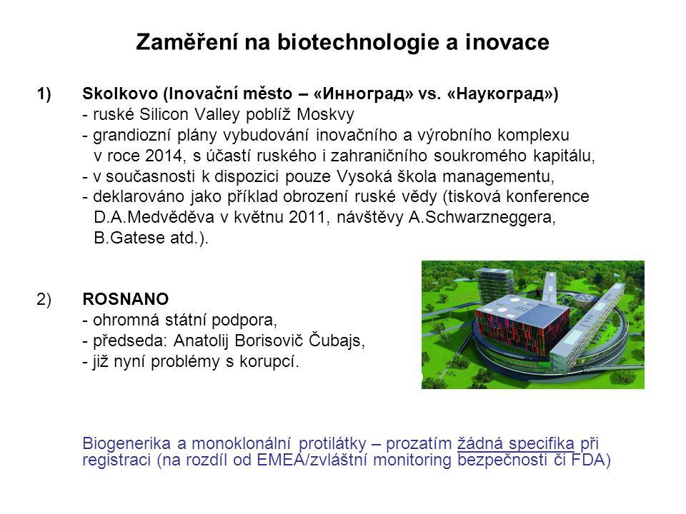 Zaměření na biotechnologie a inovace