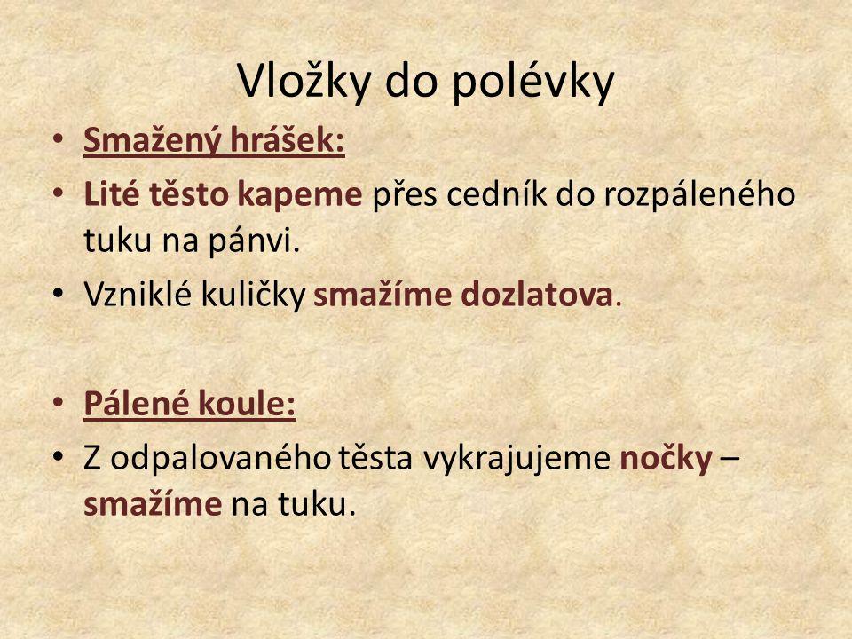 Vložky do polévky Smažený hrášek: