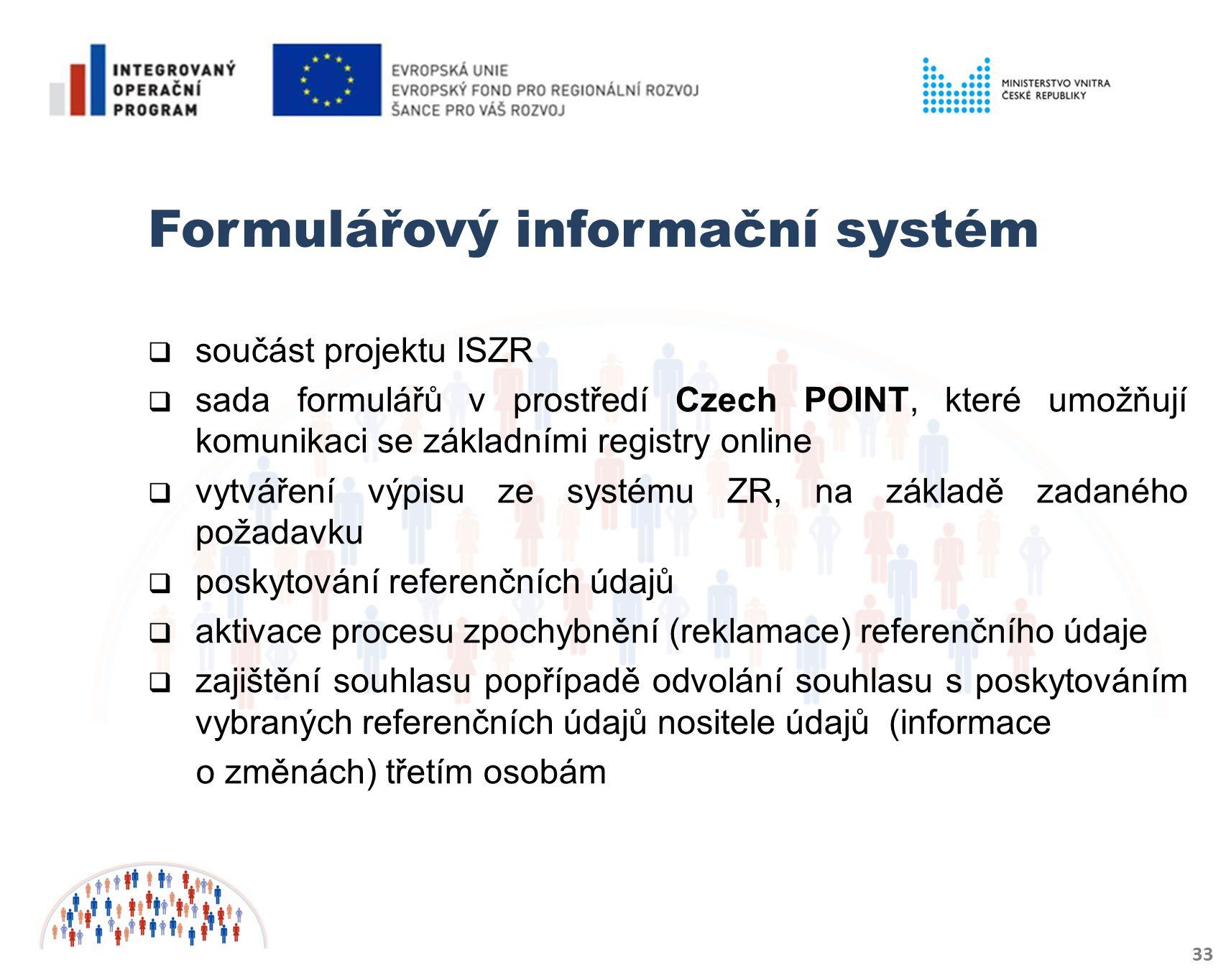 Formulářový informační systém