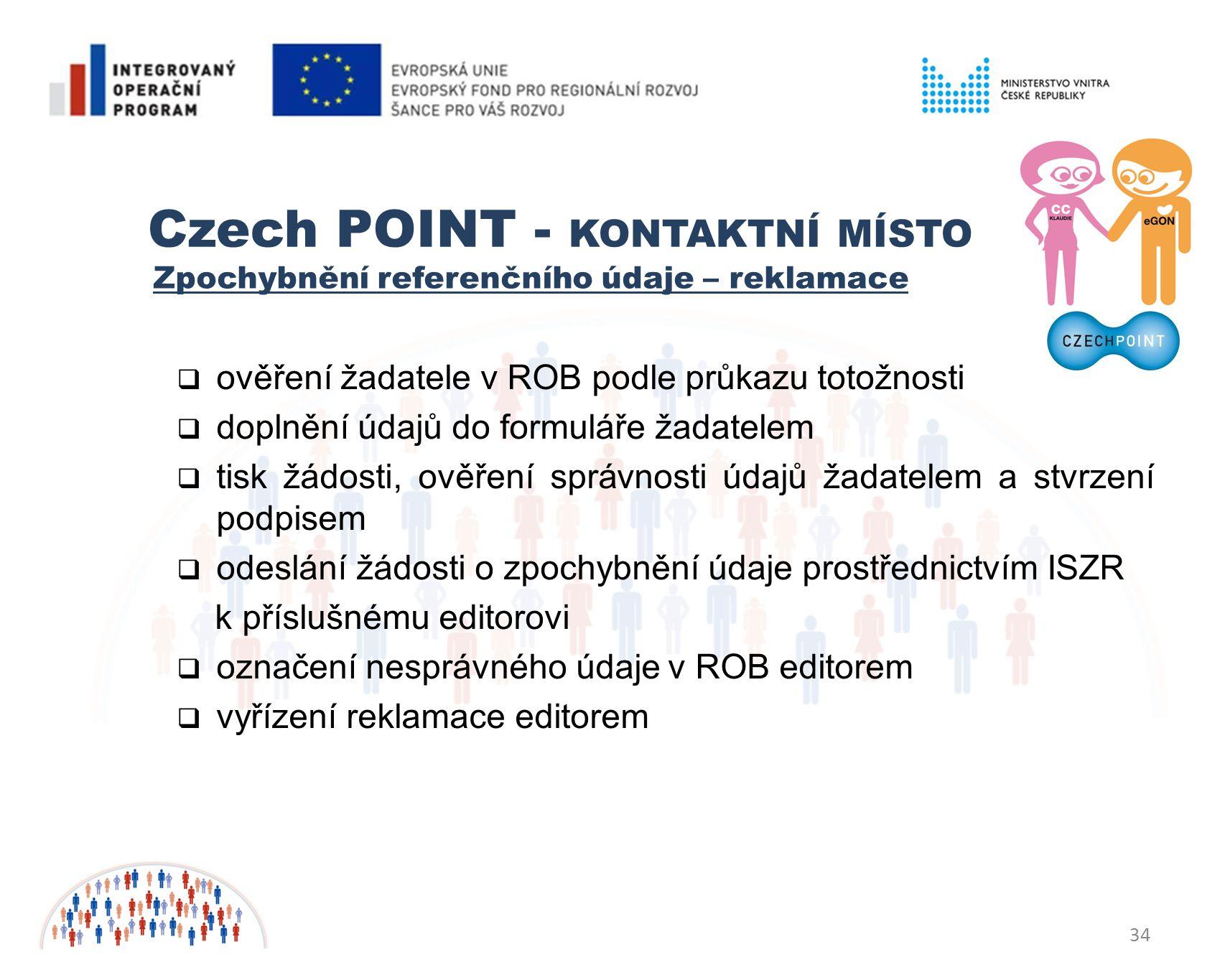 Czech POINT - KONTAKTNÍ MÍSTO