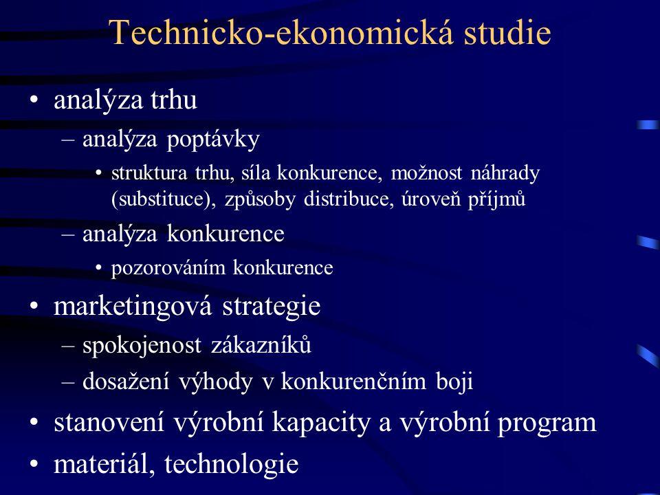 Technicko-ekonomická studie