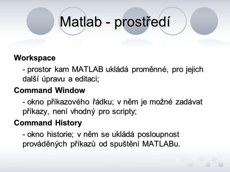Matlab - prostředí Workspace