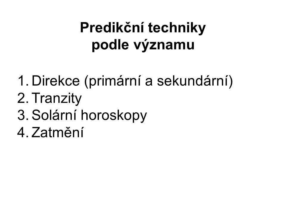 Predikční techniky podle významu