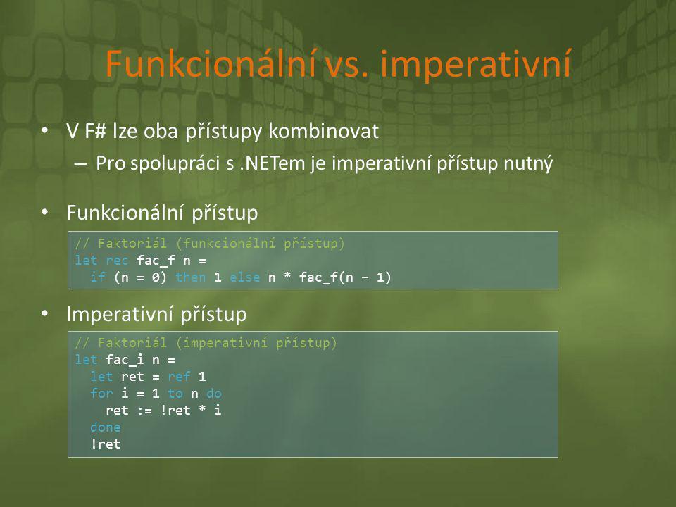 Funkcionální vs. imperativní