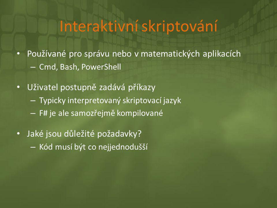 Interaktivní skriptování