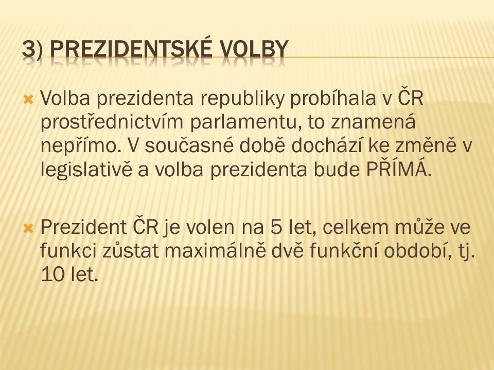 3) Prezidentské volby