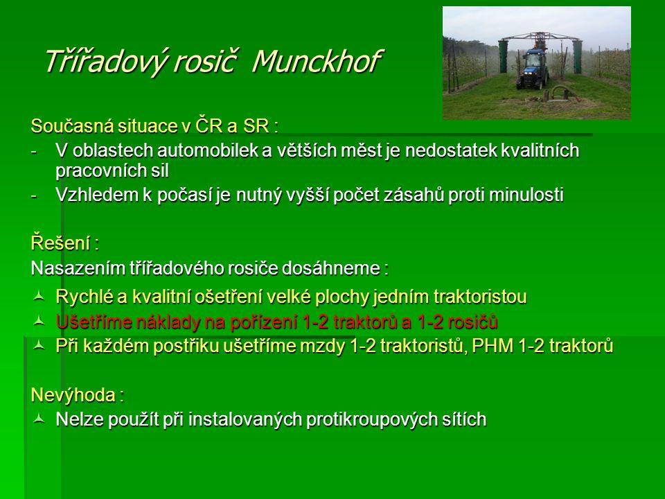 Třířadový rosič Munckhof