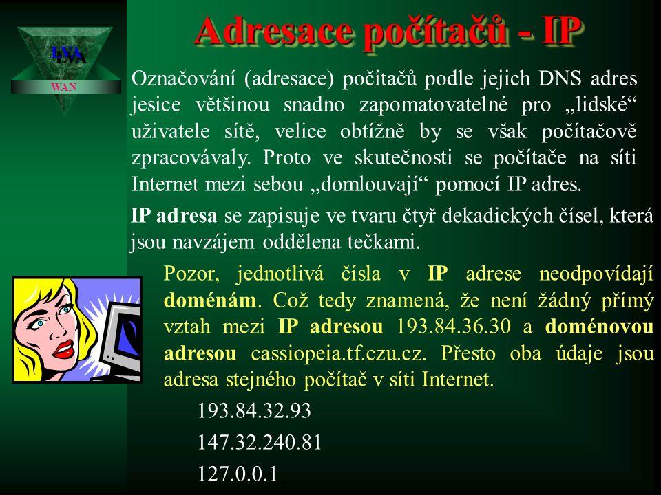 3.4.2017 Adresace počítačů - IP. LVA.