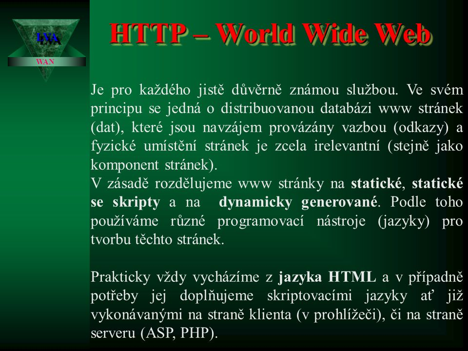 HTTP – World Wide Web 3.4.2017. LVA. WAN.