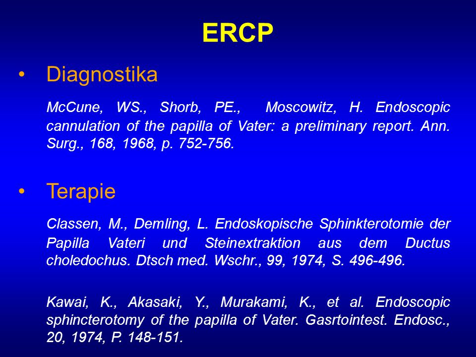 ERCP • Diagnostika.