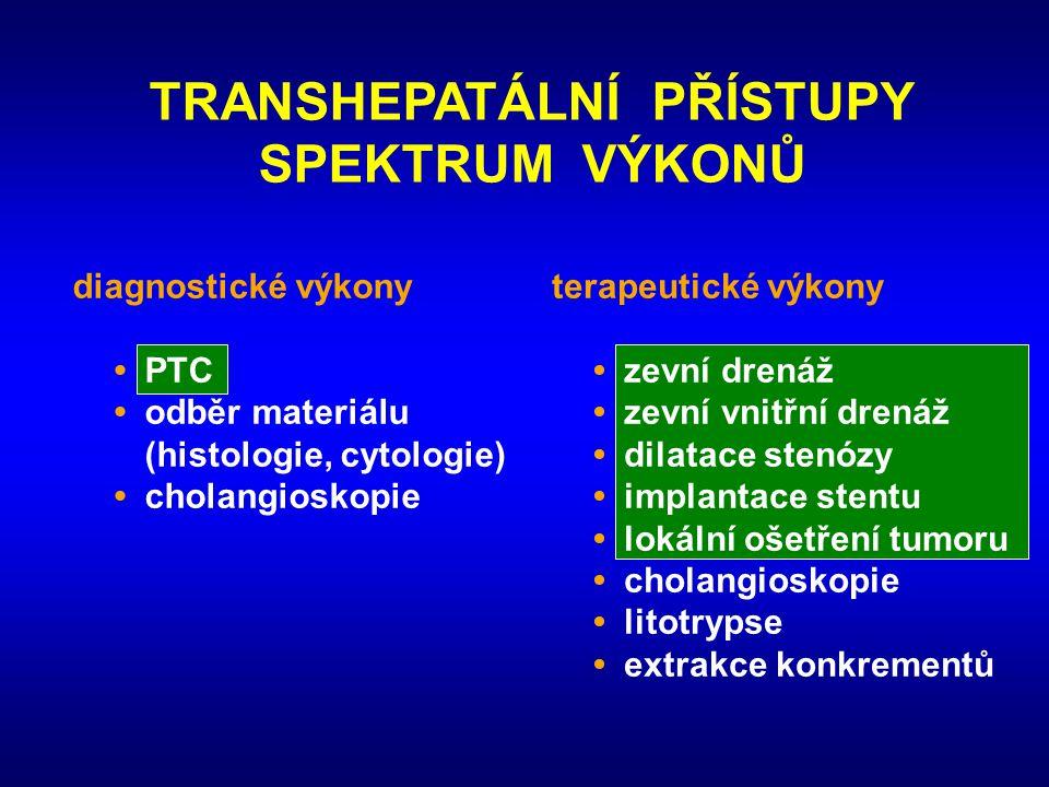 TRANSHEPATÁLNÍ PŘÍSTUPY