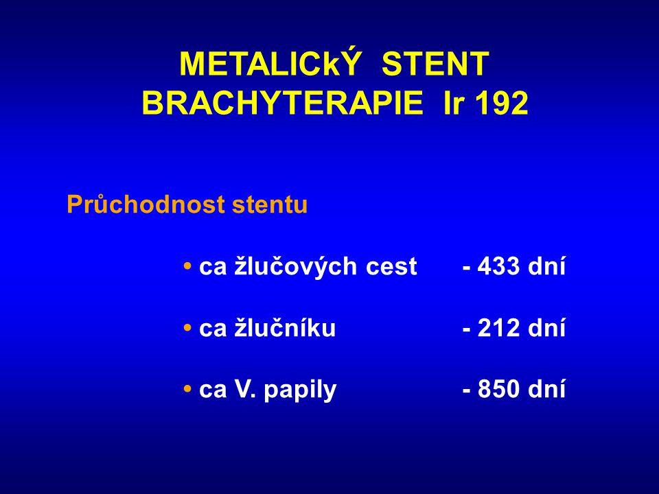 METALICkÝ STENT BRACHYTERAPIE Ir 192