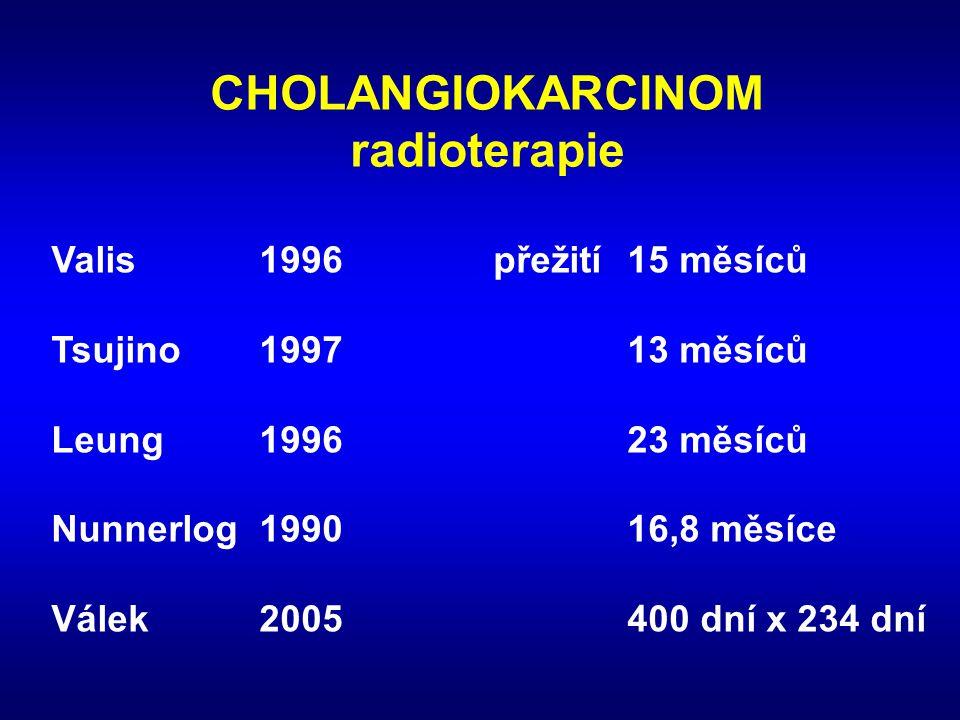 CHOLANGIOKARCINOM radioterapie