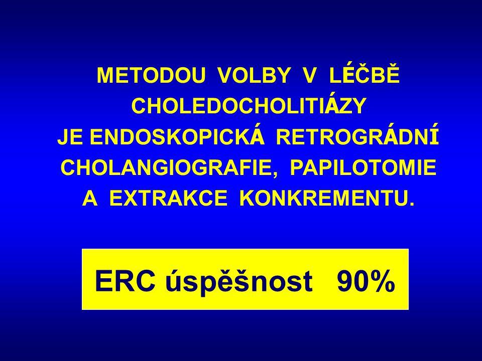ERC úspěšnost 90% METODOU VOLBY V LÉČBĚ CHOLEDOCHOLITIÁZY