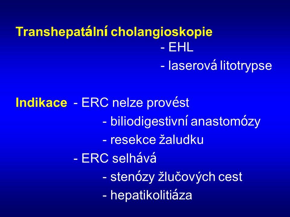 Transhepatální cholangioskopie - EHL