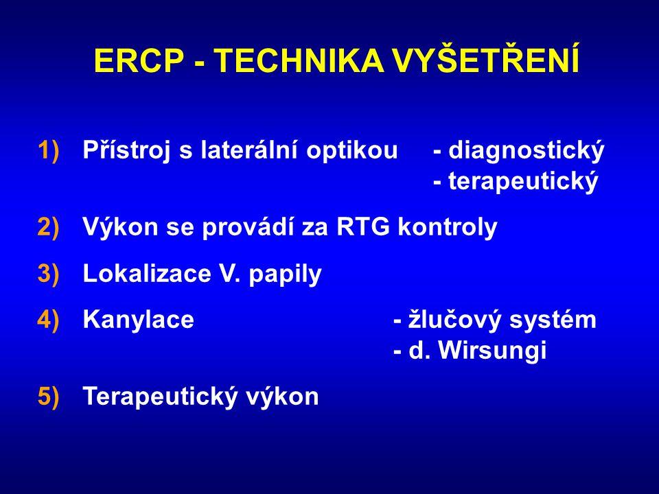 ERCP - TECHNIKA VYŠETŘENÍ